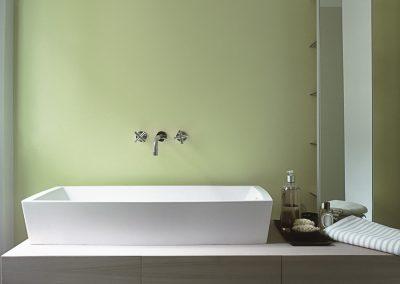 detail of washbasin in a modern bathroom